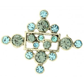 A&C Classic Party Brooch, Blue/Silver