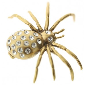 A&C Spiders Web Reaslistic Spider Brooch
