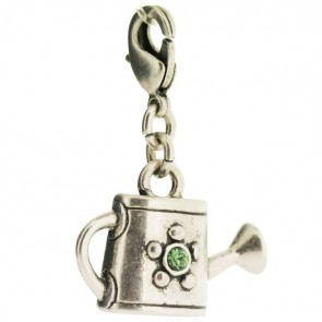 A&C Charm Watering Can Green/silver