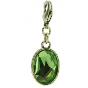 A&C Charm Green Faceted Glass