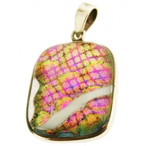 Dichroic Pendant set in Silver