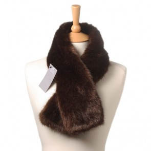 Faux Fur Tippet Scarf by Helen Moore in Treacle.