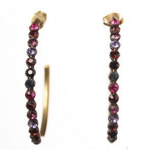 Michal Negrin Large Creole Hoop Earrings, Multi Mix/Gold