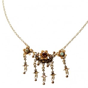 Michal Negrin Necklace, Brown Mix/Gold