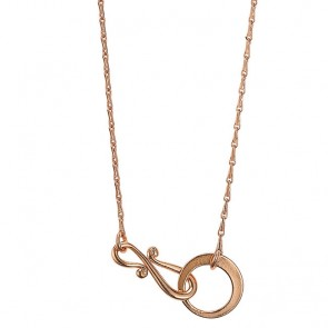 Pilgrim Necklace for Charms, 90cm long . Rose Gold Colourway.