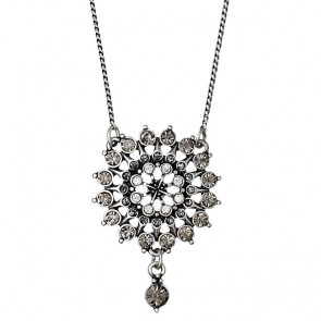 Pilgrim, First Lady Necklace 40 cm, Silver Plated, Grey