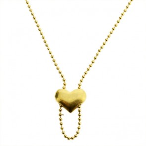 Pilgrim Charms, Heart Necklace for your Charms, Gold