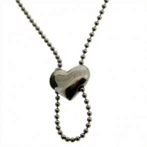 Pilgrim Charms, Heart Necklace for your Charms, Hematite