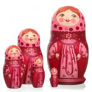 Russian Doll, 5 Piece, 13cm by Tania Andreyev