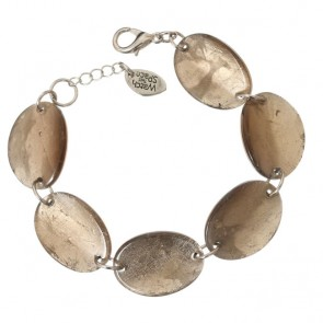 Watch this Space Bracelet from the Curved Oval Collection, Gold/Silver