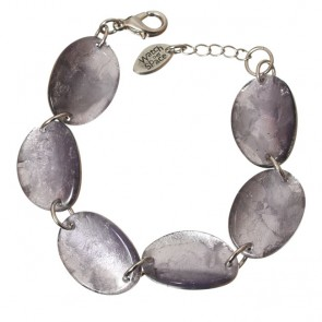Watch this Space Bracelet from the Curved Oval Collection, Lilac/Silver
