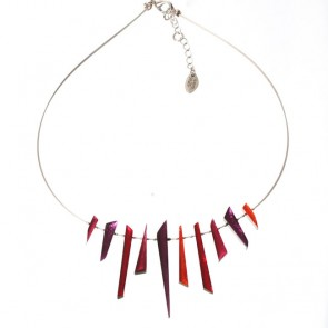 Watch this Space Necklace from the Icicle Collection, Rio/Silver