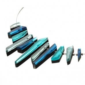 Watch this Space Necklace from the Icicle Collection, Teal/Silver colourway