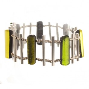 Watch this Space Bracelet from the Matchsticks Collection, Peridot/Silver
