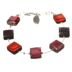 Watch this Space Bracelet, Square Buttons Collection, Rio/Silver