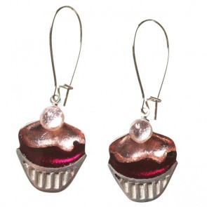 Watch this Space Earrings from the Cupcake Collection, Rose/Silver