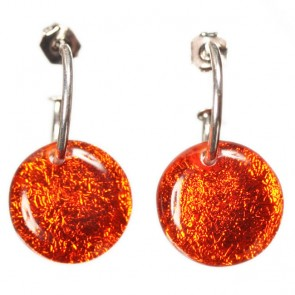 Watch this Space Earrings on a creole from the Buttons Collection, Toffee