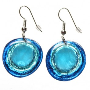 Watch this Space Earrings from the Resin Pebble Collection, Glacier.
