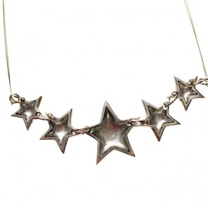 Watch this Space Necklace from the Pewter Stars Collection, Silver