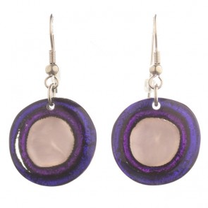 Watch this Space Earrings from the Resin Pebble Collection, Peacock